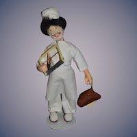 Vintage Doll Klumpe  Doctor W/ Orginal Tag Cloth Doll