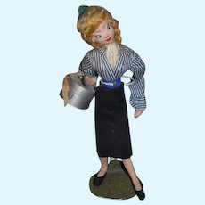 Vintage Klumpe Doll Cloth Doll Stewardess
