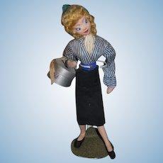 Vintage Klumpe Doll Cloth Doll Stewardess