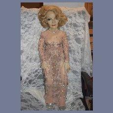 Vintage Artist Doll Portrait Character Actress  Marlene Dietrich Gorgeous