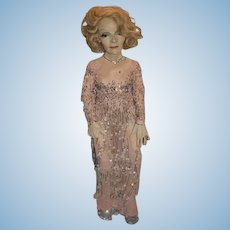 Vintage Artist Doll Portrait Character Actress  Marlene Dietrich Gorgeous