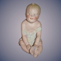 Antique Doll Heubach Piano Baby Bisque Marked Big Baby Sweet Figurine