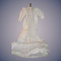 Antique Doll Christening Gown Lace Ornate Gorgeous Dress