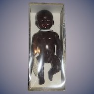 Wonderful Black French Celluloid Doll in Original Box Jouets Petitcollin Jointed