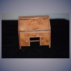 Old Doll Miniature Wood Secretary Desk Dollhouse