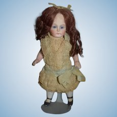 Antique Doll All Bisque Swivel Head Factory Original Clothing Incised 2