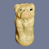 Old Doll Toy Celluloid Dog Roly Poly Miniature Dollhouse Bulldog