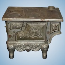 Old Cast Iron Miniature Doll Child's Stove Oven Eagle Display