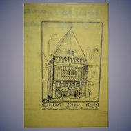 Vintage Medieval House Model in Old Box Copyright University Museum Phila. Dollhouse Miniature