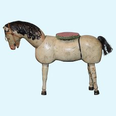 Antique Doll Wood Schoenhut Circus Horse Carved