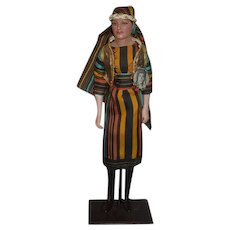 Vintage Rudolph Valentino Son of the Sheik Actor Doll In Arabian Costume