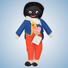 Vintage Dean's Rag Childplay Doll Black Golliwog Cloth Doll W/ Tags