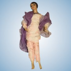 Old Wax and Clothe Movie Star Actress Doll
