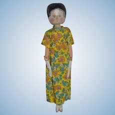 Old Wood Grodnertal Doll Jointed Pegged