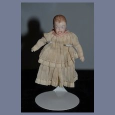 Vintage Doll Bisque Open Mouth Crying Miniature Baby Artist Doll Dollhouse