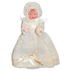 Vintage Doll Artist Doll Bitsy Mask Face Cloth Body