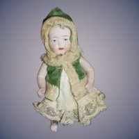 Antique Doll All Bisque Baby Doll Jointed