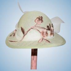 Judith Phelp's Doll Artist Doll Hat Fancy W/ Case