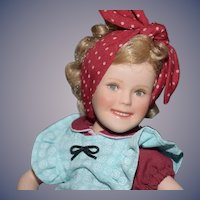Vintage Doll Shirley Temple Porcelain Jointed By Elke Hutchens Petite Size