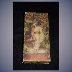 Old Beautiful Candy Box Victorian Lady
