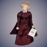 Artist Doll OOAK LAUREN WELKER Lady Rose Wax Over Porcelain Duchess of Dollology