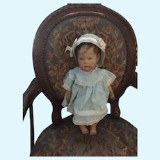 Antique Kathe Kruse Cloth Doll Wide Hips Sweet Character Face Series 1