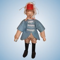 Antique Doll Schoenhut Wood Carved Jointed Humpty Dumpty Circus Shriner Circus Master