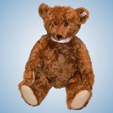 """Wonderful Huge Steiff Teddy Bear Mohair Jointed Button Tag 23"""" Tall Doll Friend"""