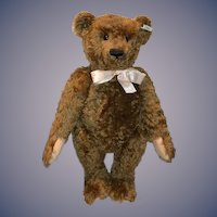 "Vintage Steiff Teddy Bear Jointed Mohair 26"" Tall HUGE Brown Bear Huge Paws"