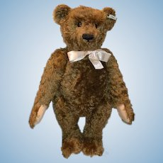 "Vintage Steiff Teddy Bear Jointed Mohair 26"" Tall HUGE Brown Bear Huge Paws"