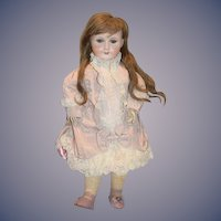 """Antique French Doll 23"""" Tall Unis 301 Bisque Head nicely Dressed"""