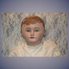 "Old Martha Chase Hospital Doll HUGE 40"" Sailor Boy Sweet W/ Stamp Oil Cloth"