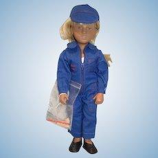 Gotz Sasha Doll Sofie Workman 94 306 W/ Wrist Tag Germany W/ Tools