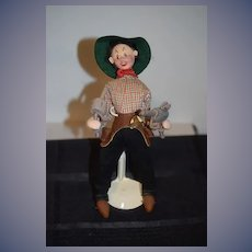 Adorable Doll Klumpe Cowboy W/ Tag And Accessories