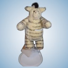 "Artist Doll Miniature Zebra Mohair Jointed "" Sparky"" TOONYBEARS :"