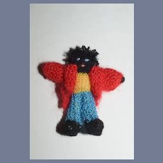 Vintage Doll Miniature Dollhouse Cloth Doll Golliwog Artist Made Sweet