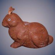 Old Papier Mache Bunny Rabbit Sweet Doll Toy