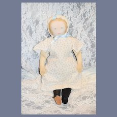 Old Doll Cloth Doll Moravian Doll Polly Heckewelder 1930's