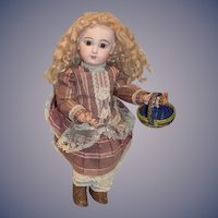 """Antique French Bisque 21"""" Closed Mouth TeTe Jumeau BeBe"""