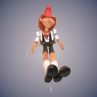 "Wood Pinocchio Jointed Doll 20"" Tall"
