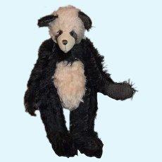 Wonderful Panda Teddy Bear Mohair Bear The Bear Basket Signed: