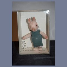R. John Wright Doll Cloth Piglet The Winnie The Pooh Collection in Box w/ Tag