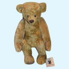 "Vintage Artist Teddy Bear Mohair ""Morgan"" Marsha DeHaven Originals Jointed w/ Tag"