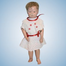 Antique: Doll: Wood: Schoenhut: Carved: Jointed: Character: