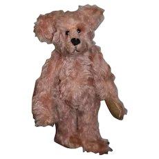 "Vintage Artist Doll Teddy Bear Jointed ""Bears in the Attic"" 1993 Petite Pink Teddy Bear"