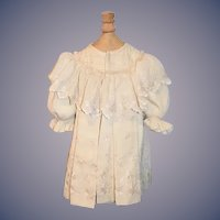 Antique Doll Coat Dress Ruffle collar Embroidery Wonderful