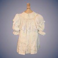 Antique Doll Coat Dress Ruffle collar Embroidery Wonderful