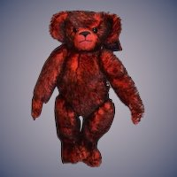 MerryThought Tide-Rider Red Tipped Teddy Bear Red Limited Edition W/ Tag