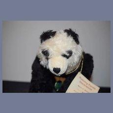 Vintage Teddy Bear Hermann German Bear Running Panda Limited Edition W/ Tags