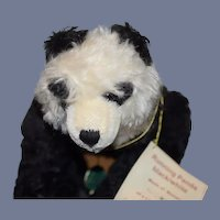 Vintage Teddy Bear Hermann German Bear Running Panda Limited Edition W/ Tags